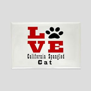 Love california spangled Cat Rectangle Magnet
