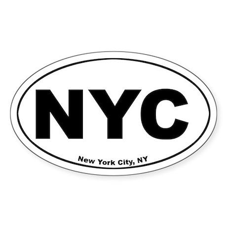 New York City (NYC) Oval Sticker
