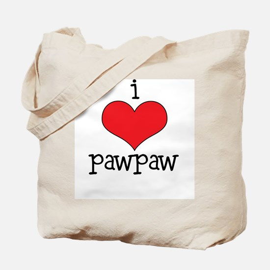 I Love Paw Paw Tote Bag