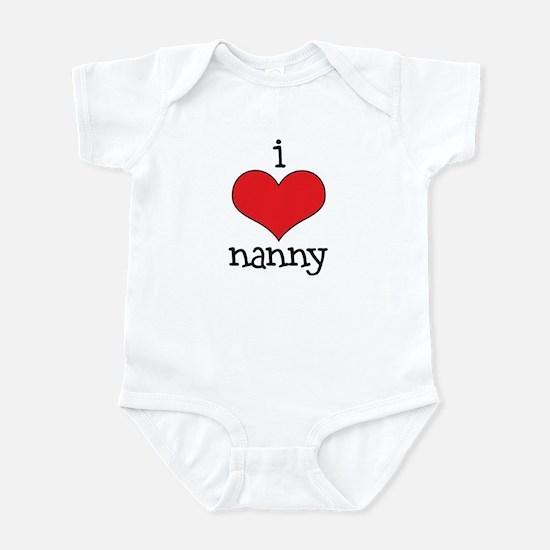 I Love Nanny Infant Bodysuit