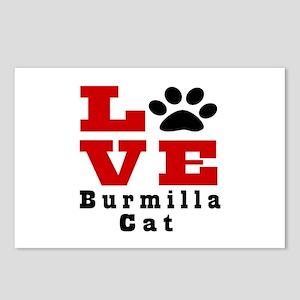 Love Burmilla Cat Postcards (Package of 8)