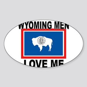 Wyoming Love Me Oval Sticker