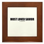 Most Loved Savior(TM) Framed Tile