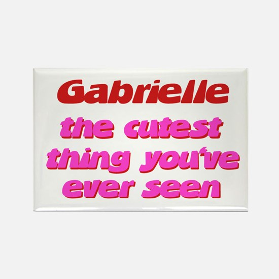 Gabrielle - The Cutest Ever Rectangle Magnet