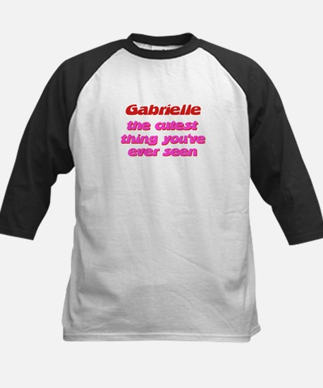 Gabrielle - The Cutest Ever Kids Baseball Jersey