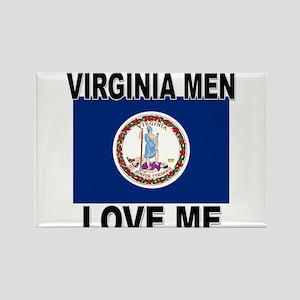 Virginia Love Me Rectangle Magnet