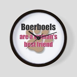 Boerboels woman's best friend Wall Clock