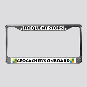 Geocacher's Onboard License Plate Frame
