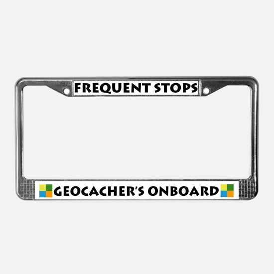 Geocacher's Onboard License Plate Frame