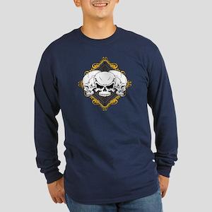 Skulls in Frame Long Sleeve Dark T-Shirt