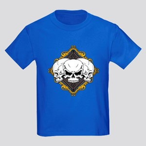 Skulls in Frame Kids Dark T-Shirt