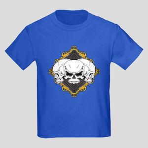 Skulls in Frame Kids Dark T-Shirt