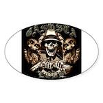 Gangsta Love Oval Sticker (10 pk)