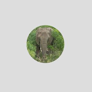 Elephant in Bush Mini Button