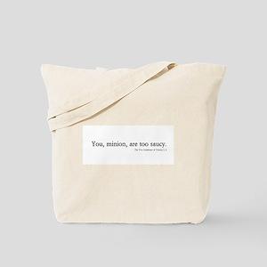 saucy minion Tote Bag