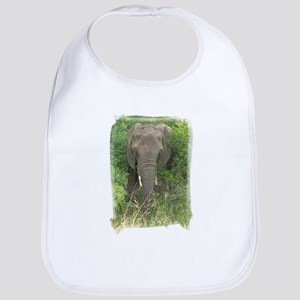 Elephant in Bush Bib