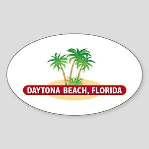 Daytona Beach Palms - Oval Sticker