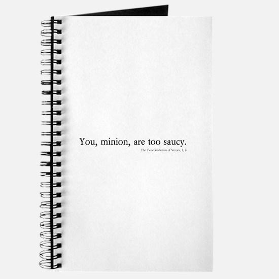saucy minion Journal