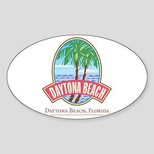 Retro Daytona Beach - Oval Sticker
