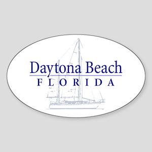Daytona Beach Sailboat - Oval Sticker