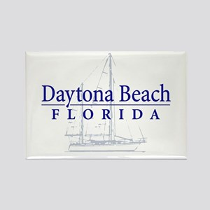 Daytona Beach Sailboat - Rectangle Magnet