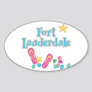 Ft Lauderdale Flip Flops - Oval Sticker