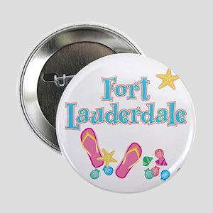 """Ft Lauderdale Flip Flops - 2.25"""" Button"""