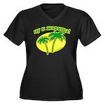 CTEPBA.com Women's Plus Size V-Neck Dark T-Shirt