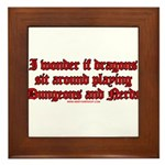 Dragons Play Dungeons And Ner Framed Tile