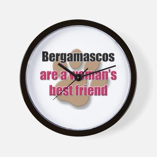 Bergamascos woman's best friend Wall Clock