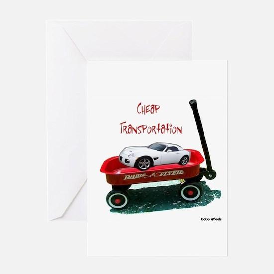 Cheap Transportation Greeting Card