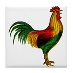 Colorful Rooster Tile Coaster