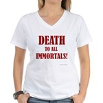 Death_2_Immortals Women's V-Neck T-Shirt