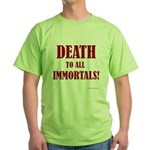 Death_2_Immortals Green T-Shirt