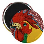 Bright Rooster Magnet