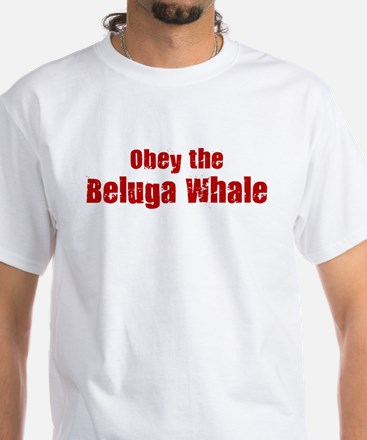Obey the Beluga Whale White T-Shirt