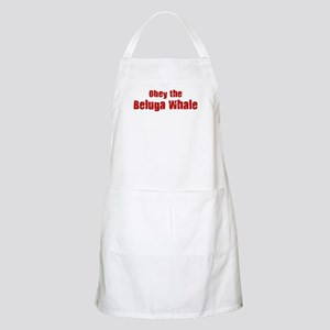 Obey the Beluga Whale BBQ Apron