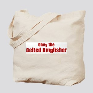 Obey the Belted Kingfisher Tote Bag