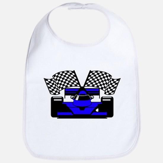 ROYAL BLUE RACE CAR Bib