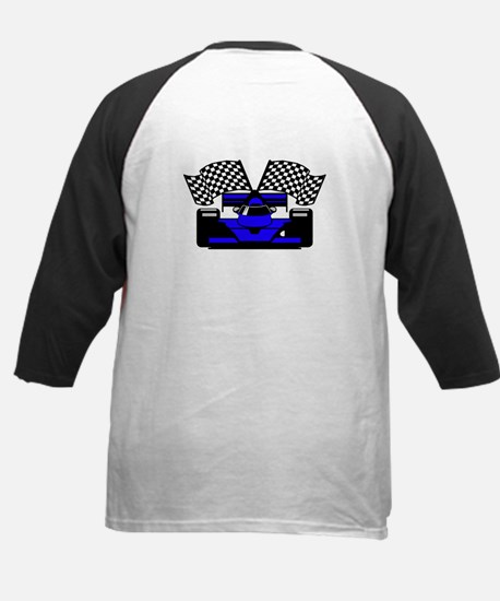 ROYAL BLUE RACE CAR Kids Baseball Jersey