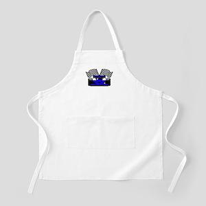 ROYAL BLUE RACE CAR BBQ Apron