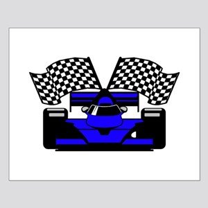ROYAL BLUE RACE CAR Small Poster