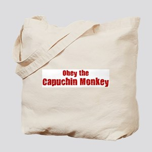 Obey the Capuchin Monkey Tote Bag