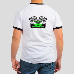 LIME GREEN RACE CAR Ringer T