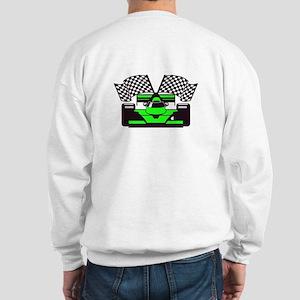 LIME GREEN RACE CAR Sweatshirt