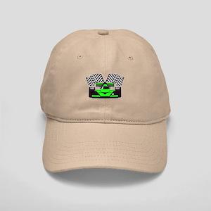 LIME GREEN RACE CAR Cap