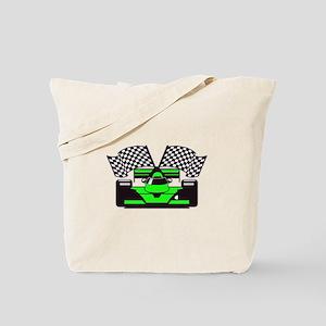 LIME GREEN RACE CAR Tote Bag