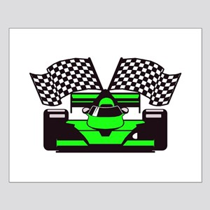 LIME GREEN RACE CAR Small Poster