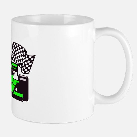 LIME GREEN RACE CAR Mug
