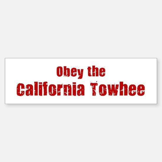 Obey the California Towhee Bumper Bumper Bumper Sticker